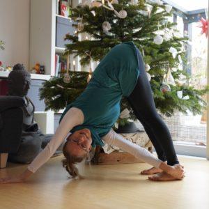 Yoga unter dem Weihnachtsbaum